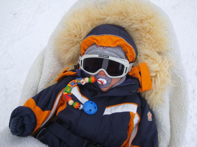Ich bin bereit in meiner vollen Schneemontur