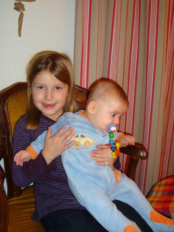Mit meiner jüngsten Cousine Deborah