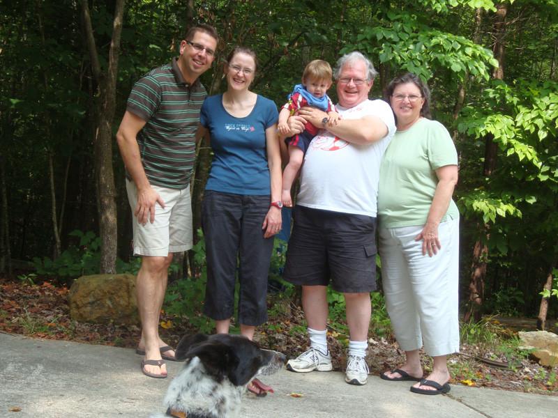 """Wir mit Phil und Sarah und den Hund """"Babe"""""""