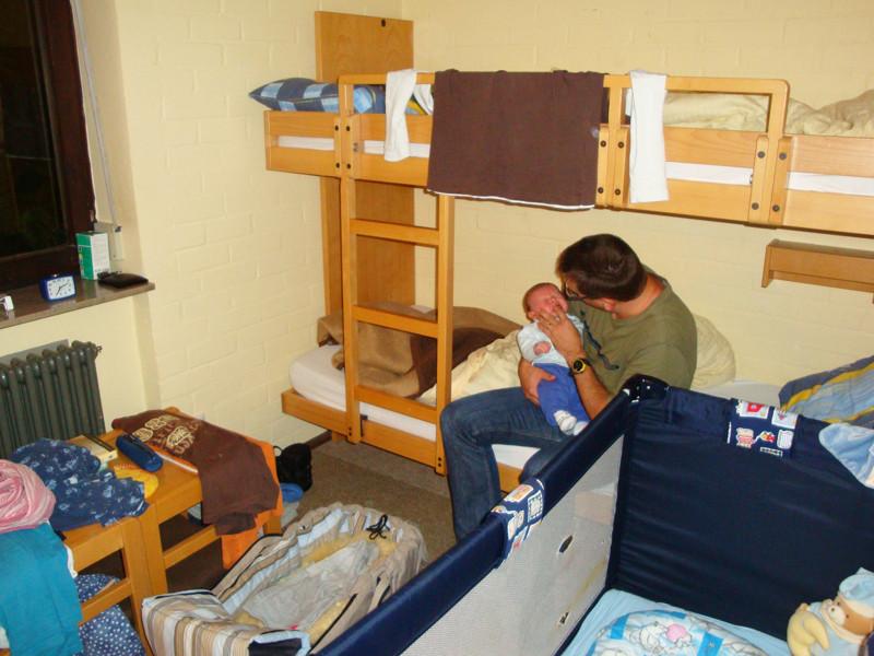 Eine Woche zu Dritt in diesem kleinen Zimmer!