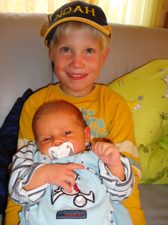 Ich und mein jüngster Cousin Noah