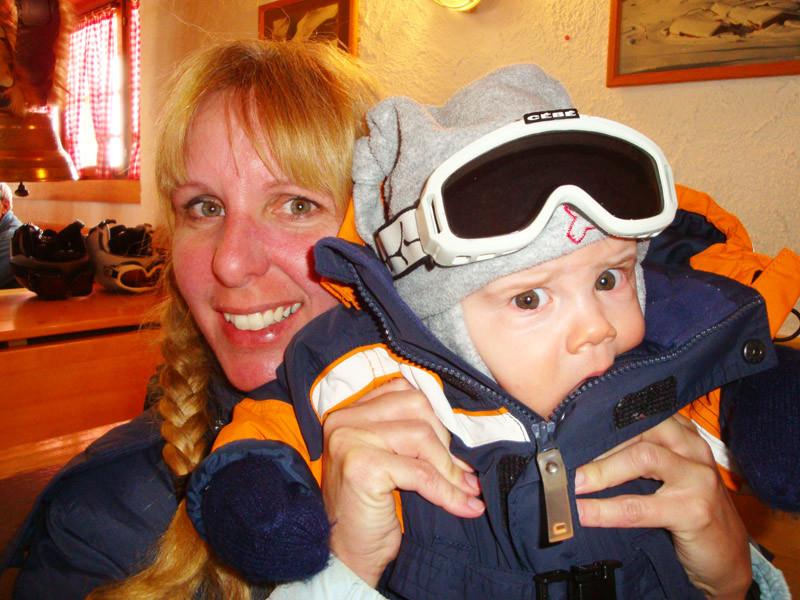 Und so war ich auch in den Skihütten bei den Mittagessen dabei