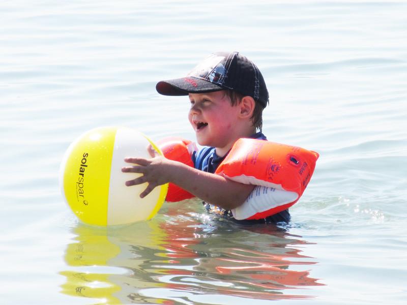 Jan hat das Meer und Salzwasser begeistert.