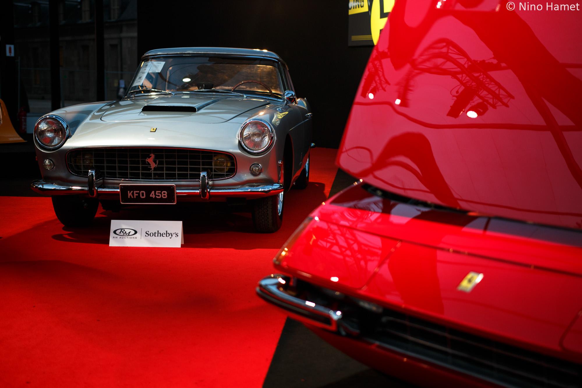 Ferrari 250 GT Cabriolet Pininfarina, cédée 1 100 000 euros. Superbe avec le hard-top.