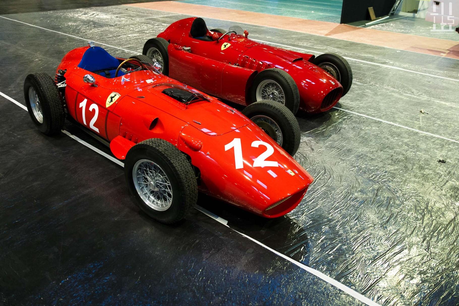 L'Américain Tillack est présent pour la première fois dans le salon. Des répliques extrêmement fidèles s'y trouvent, comme cette 246 Dino châssis 0004/R1 et cette Lancia Ferrari D50...