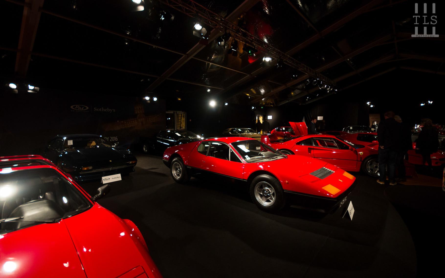 Ferrari BB512 : estimée entre 400 000 et 450 000 euros, invendue.