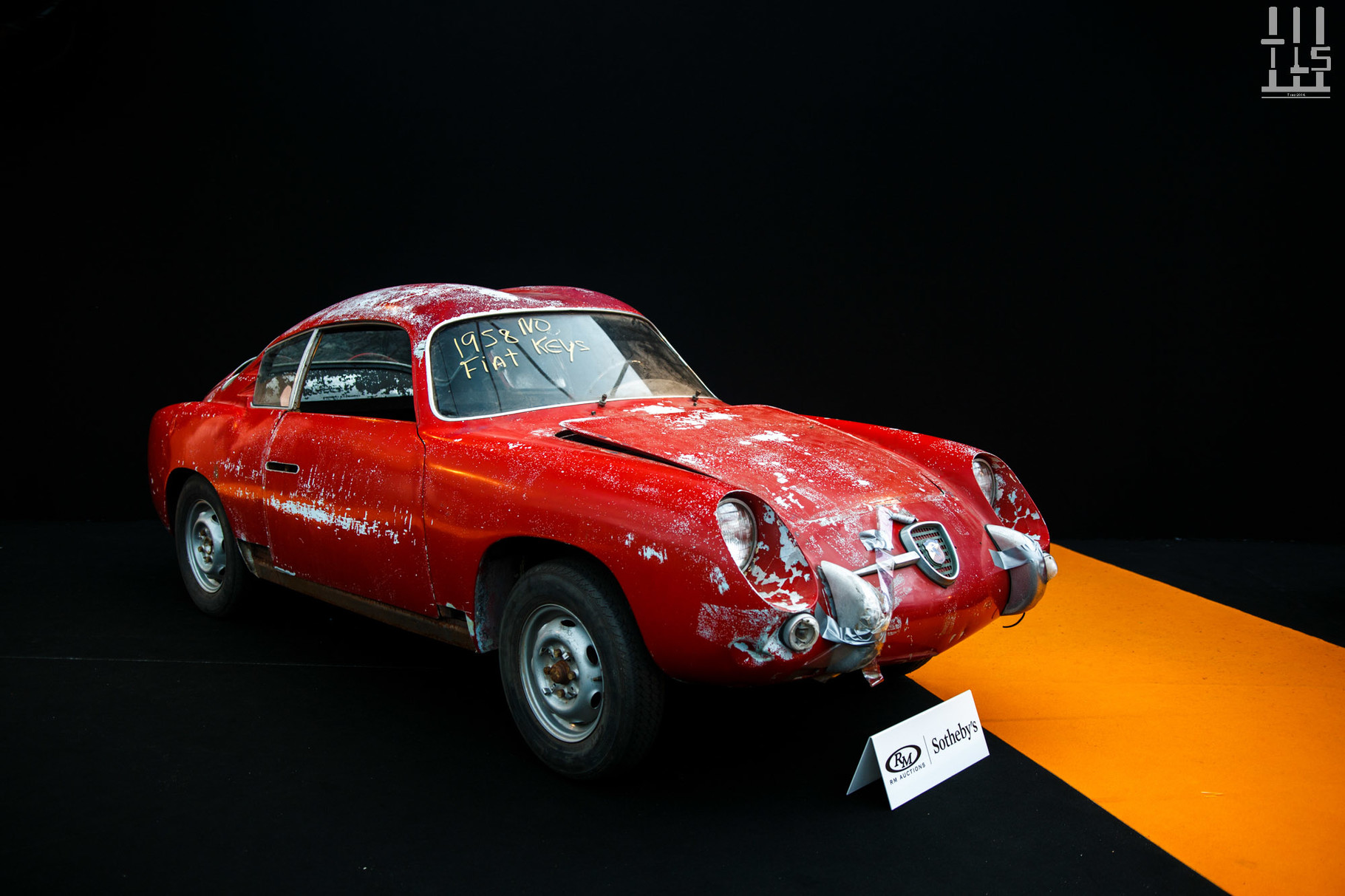 Fiat-Abarth 750 GT 'Double Bubble' par Zagato, vendue à 30 800 euros.