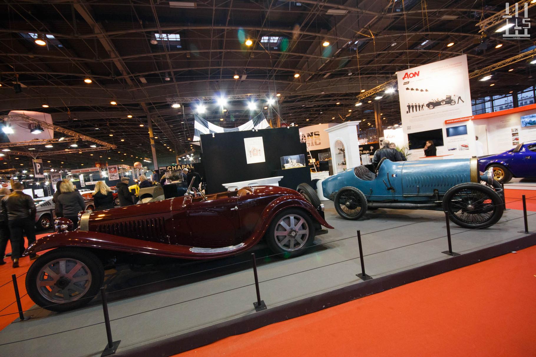 La Carrosserie François Cointreau est juste en face et expose de sympathiques Bugatti toutes deux remportées aux enchères chez Artcurial au cours de l'année 2015.