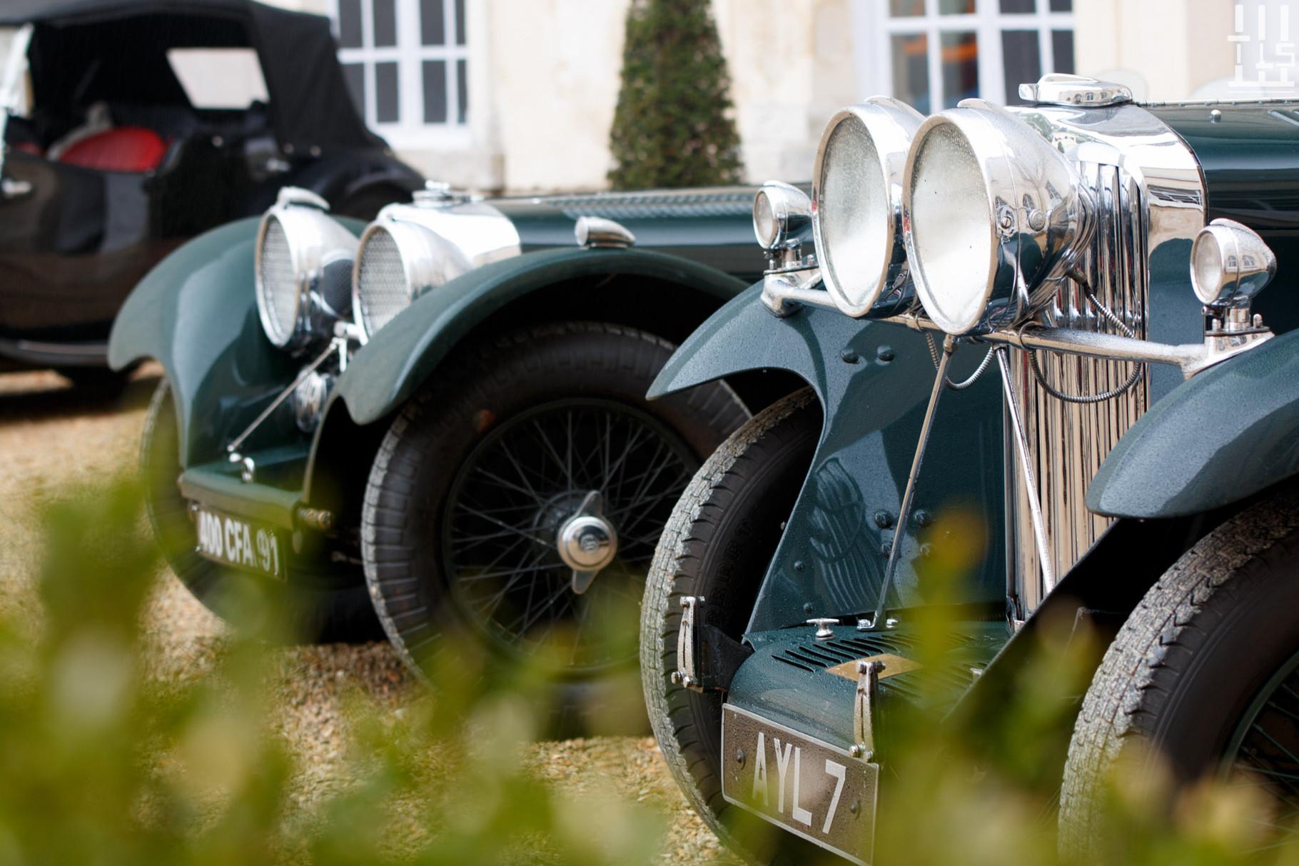Jaguar SS100 & Talbot 105 - Journées d'Automne 2015, Château de Condé.