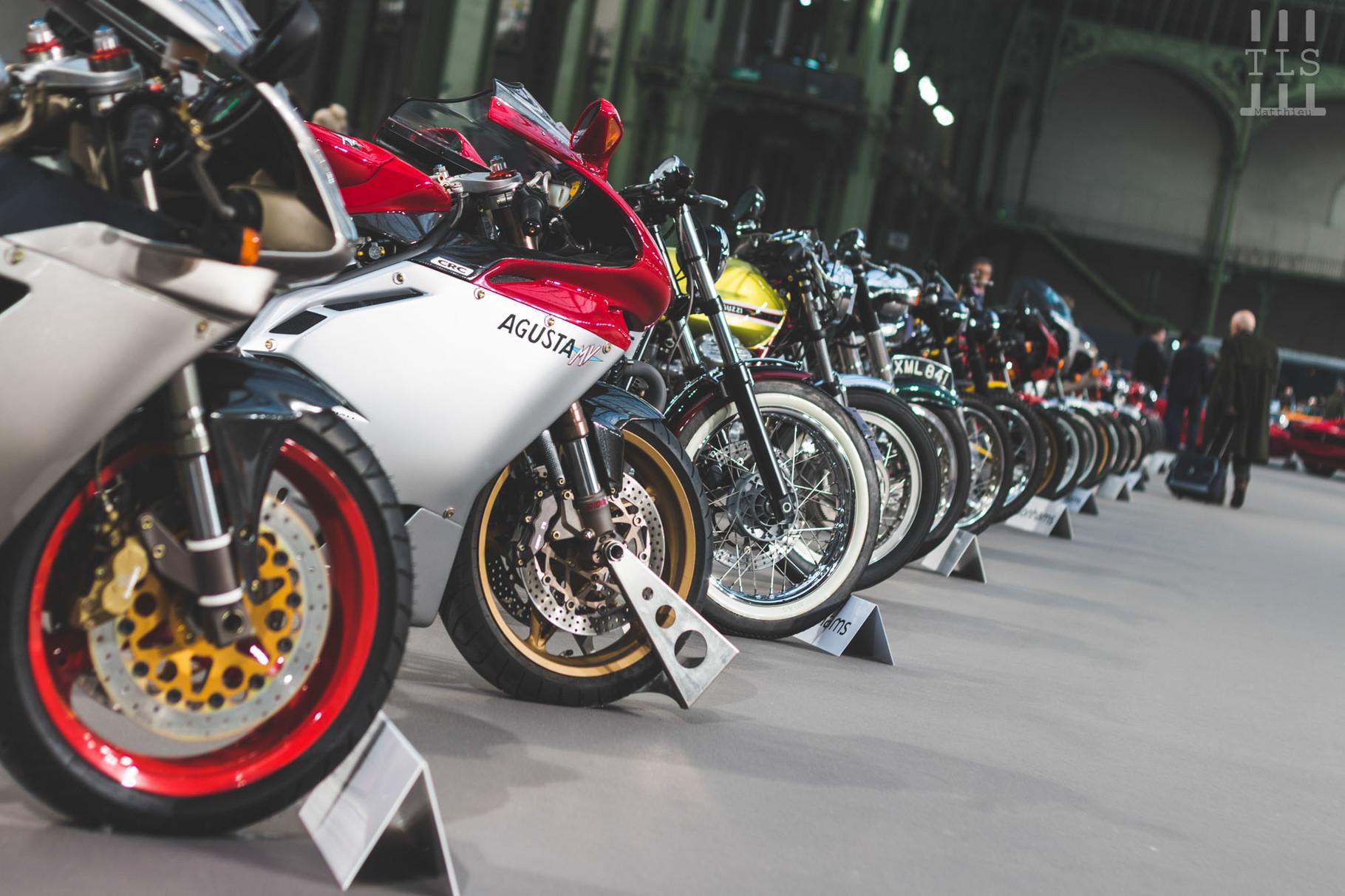 Il y avait cette année une belle sélection de motos dans les allées du Grand Palais !