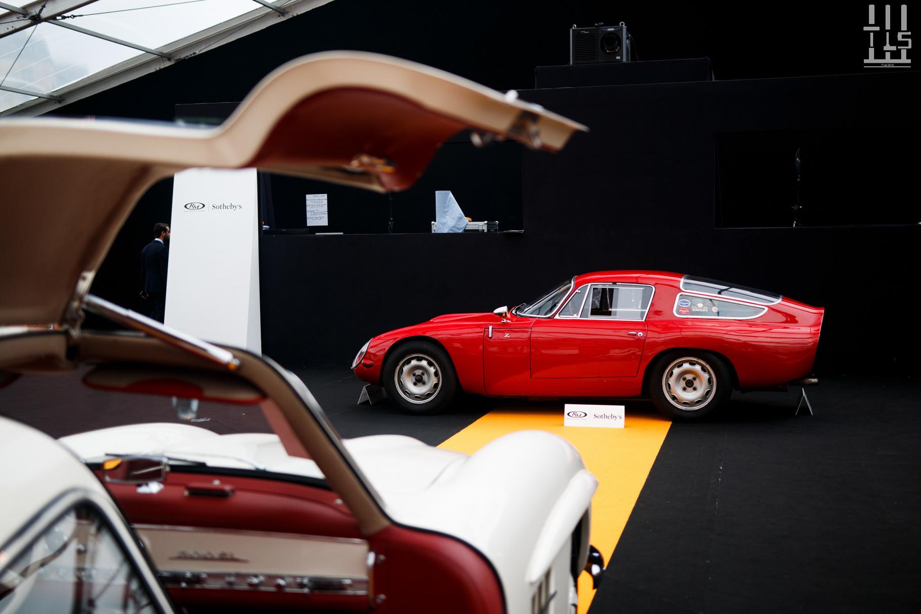 Alfa Romeo TZ : estimée entre 950 000 et 1 200 000 euros, invendue.