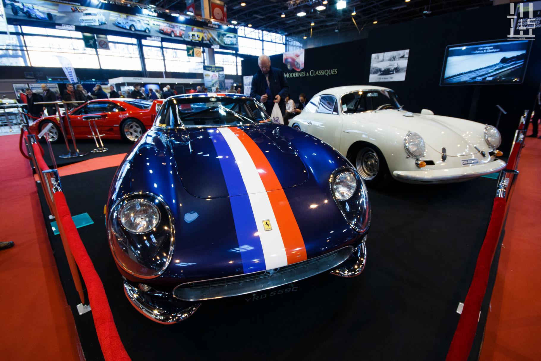 Passage chez MMC Paris qui présente des autos ayant chacune leur pedigree : historique de compétition pour la 275 GTB, 6000 kms d'origine pour la F40, une version Carrera de la 356.