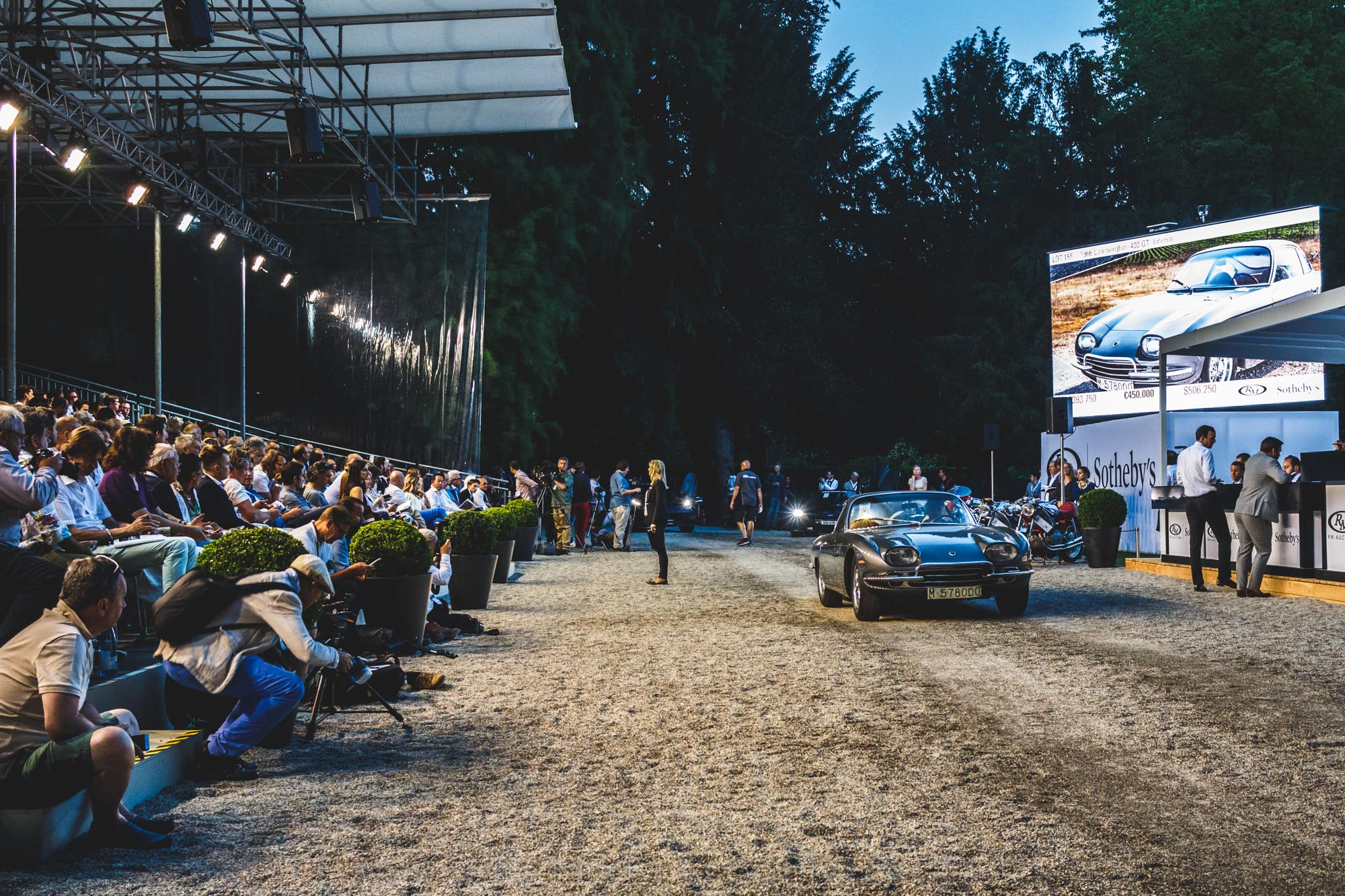 Lamborghini 400 GT Interim, estimée entre 650 000 et 750 000 euros, invendue.