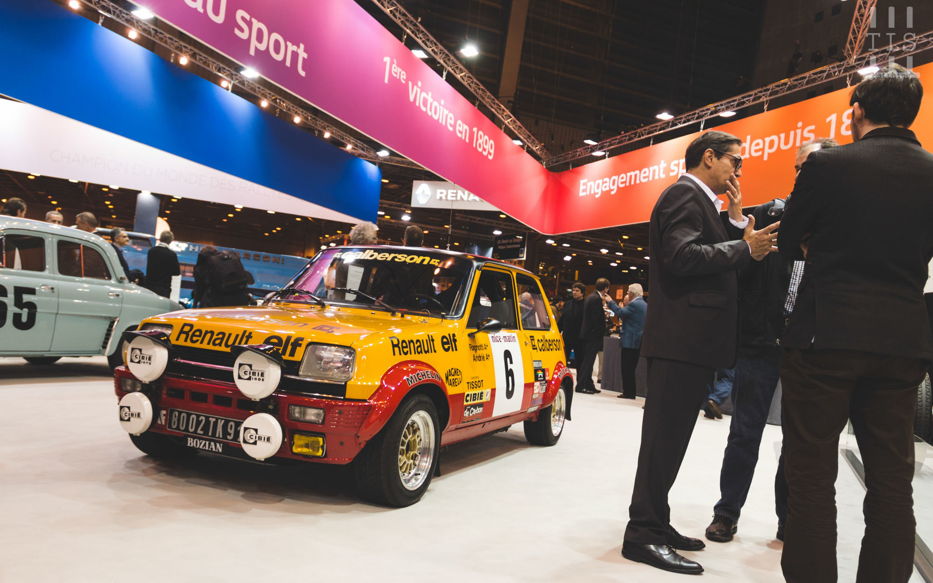 Renault 5 Alpine Groupe II, stand Renault, Rétromobile 2016