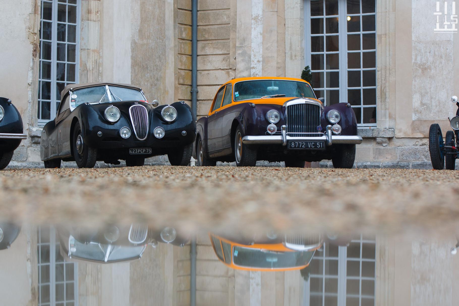 Jaguar XK120 & Bentley S2 - Journées d'Automne 2015, Château de Condé.