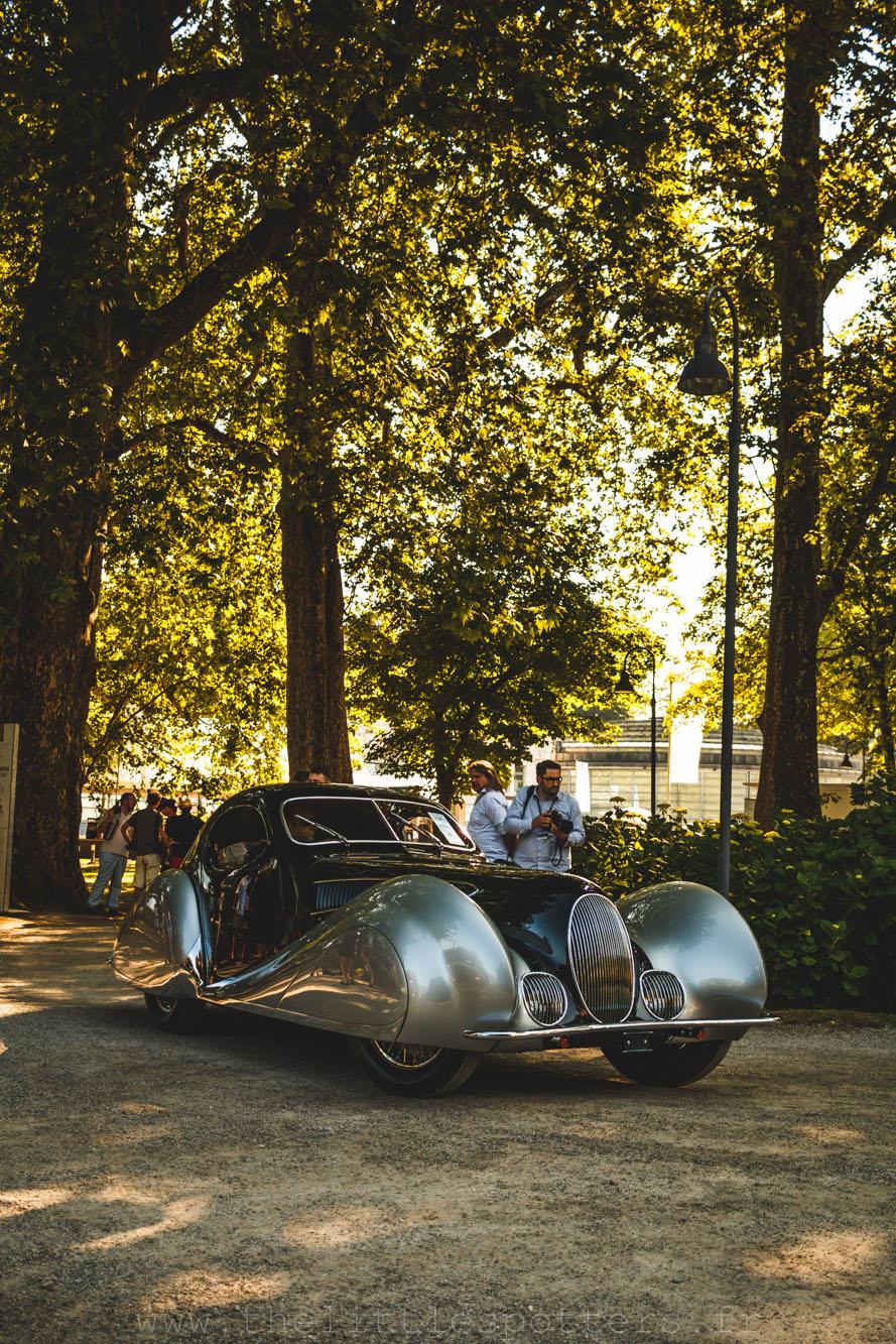 Talbot-Lago T150C SS Goutte d'Eau par Figoni et Falaschi, vendue 3 360 000 euros.