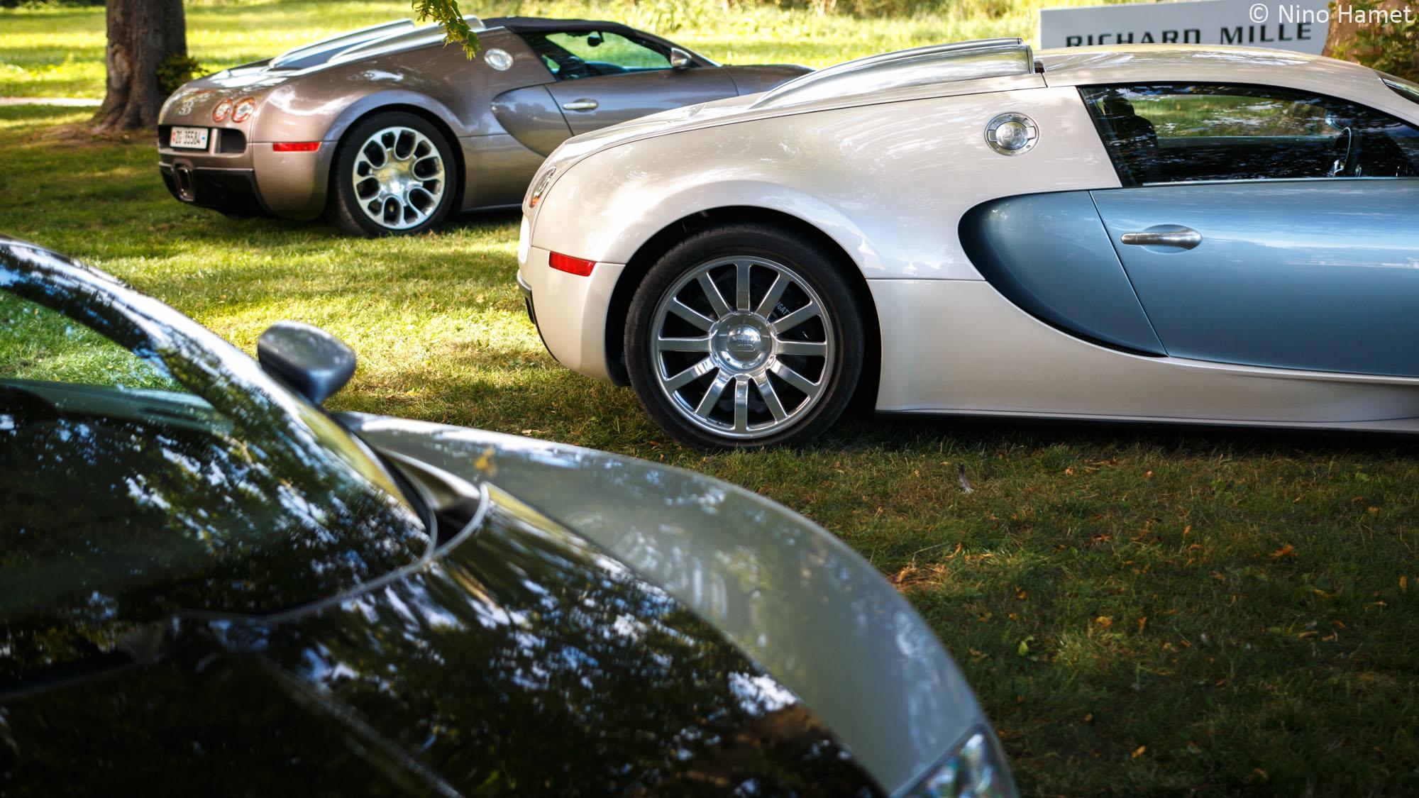 Pas moins de trois Bugatti Veyron participaient au rallye !