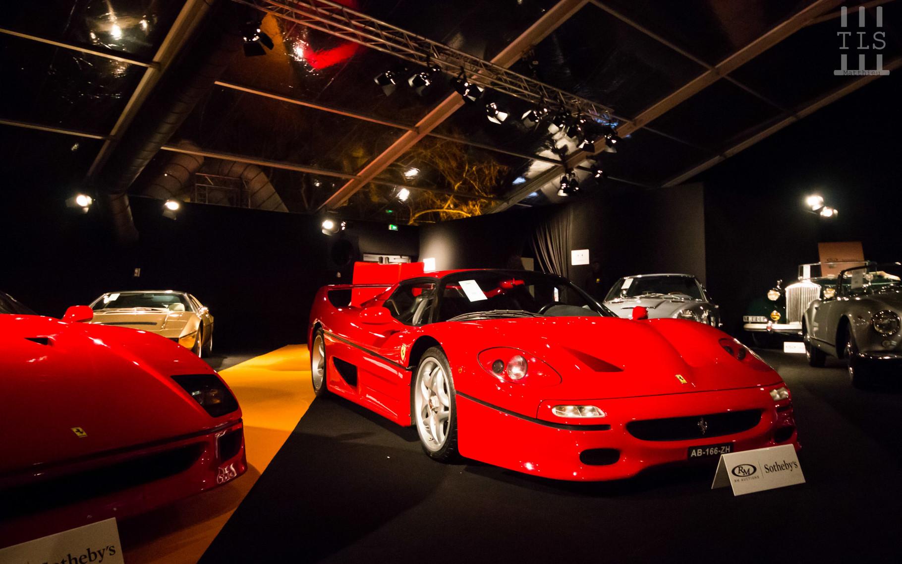 Ferrari F50, vendue à 1 275 000 euros.