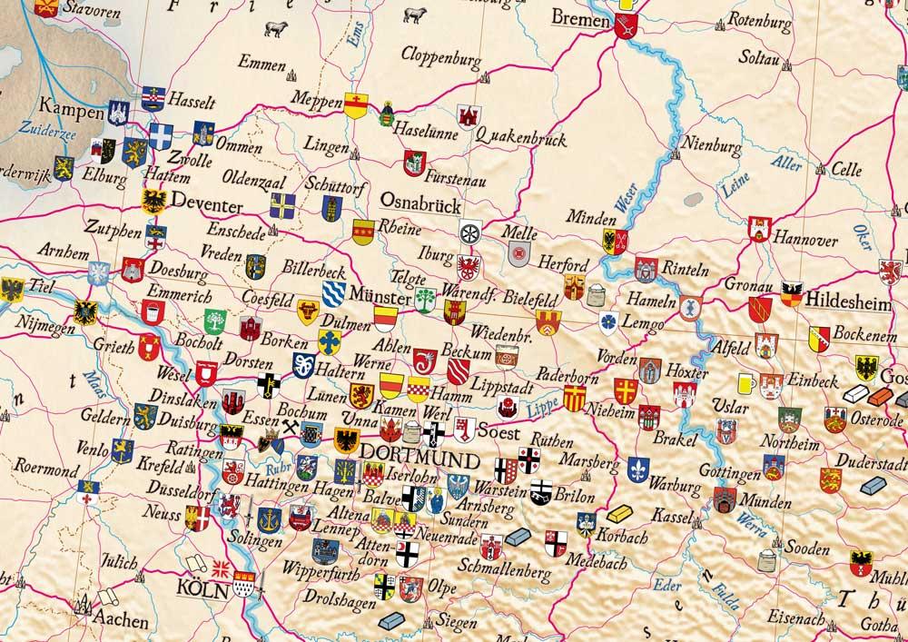 Hansekarte Kalimedia Der Verlag Fur Besondere Karten