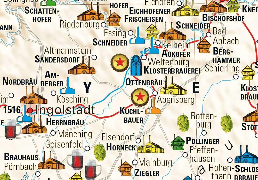 brauereien in deutschland karte Bierkarte Deutschland   Kalimedia   der Verlag für besondere Karten