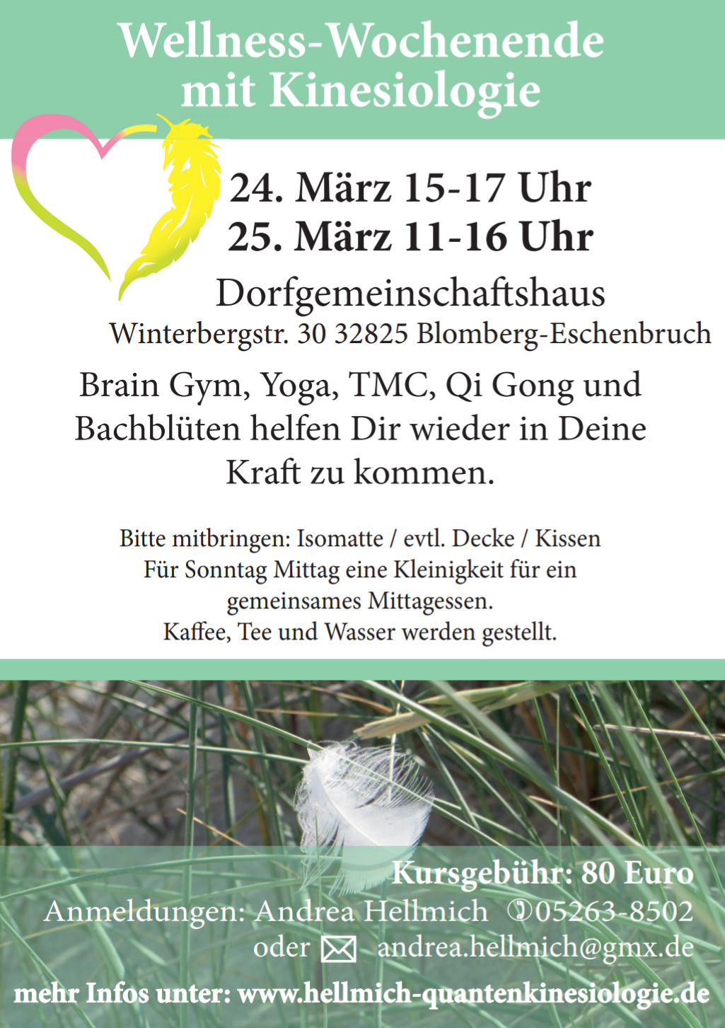Flyer Wellness Wochenende