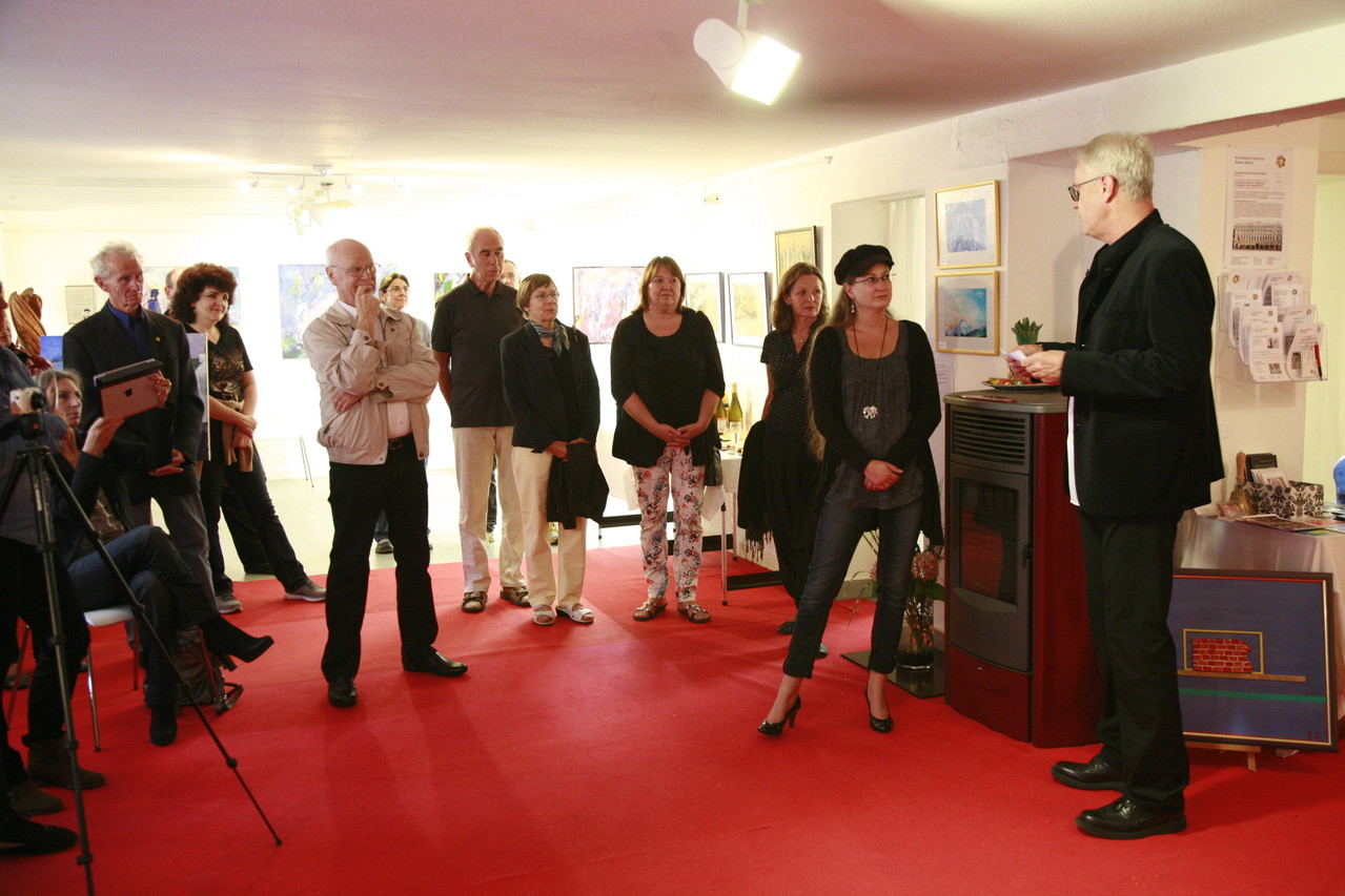 Vernissage in der Galerie ZeitKunst am 31.08.2013