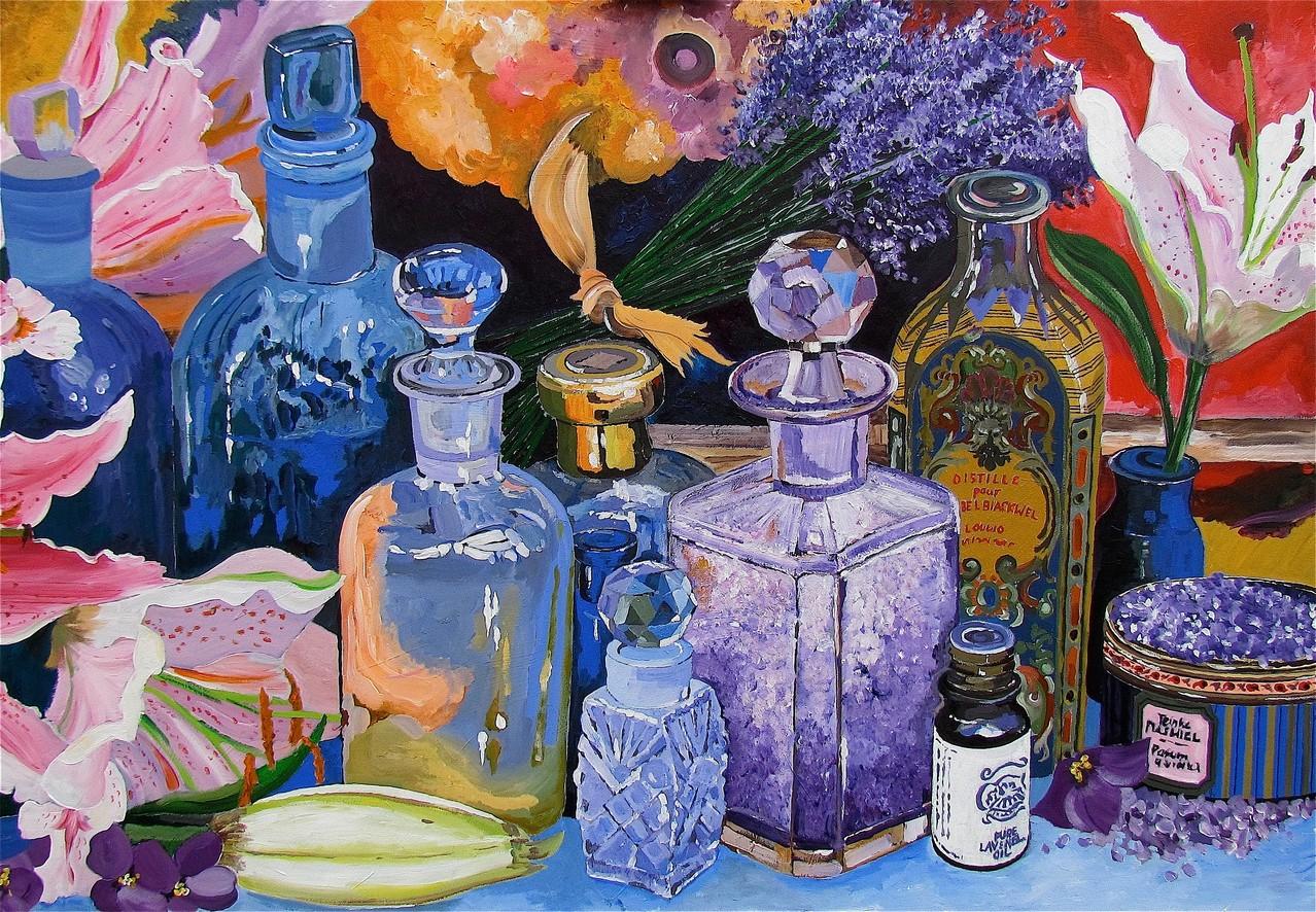 Lavendel-Flacons - 100 x 70 cm
