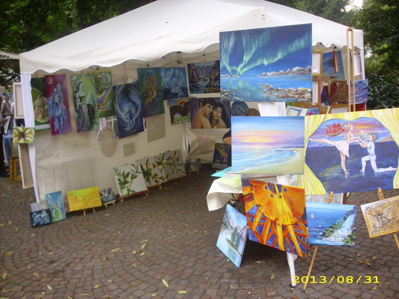 Impressionen - Kunst auf dem Augustaplatz - 31.08.2013
