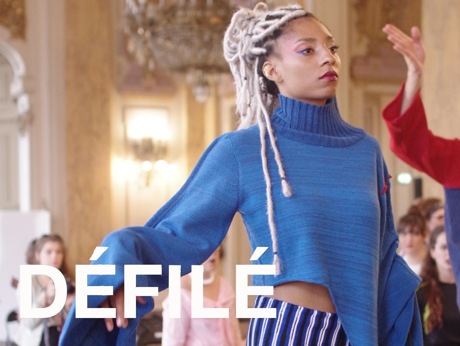 Défilé au Centre Barbara, défilé, mode, fashion, maille, maille parade, show, tricot, école de la maille de Paris