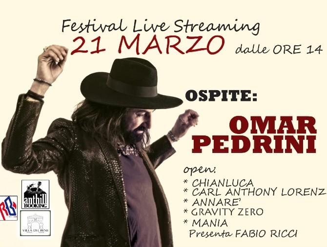 Musica in streaming: Omar Pedrini a Villa del Bene