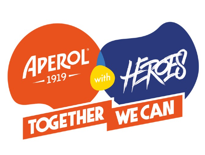 APEROL with HEROES – TOGETHER WE CAN, in streaming su LIVENow