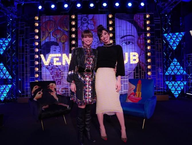 Lorella Boccia ospita Alessandra Amoroso e Francesca Manzini a Venus Club
