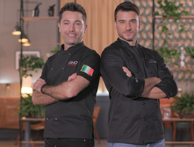 Damiano Carrara e Gino D'Acampo nella nuova edizione di Fuori Menu