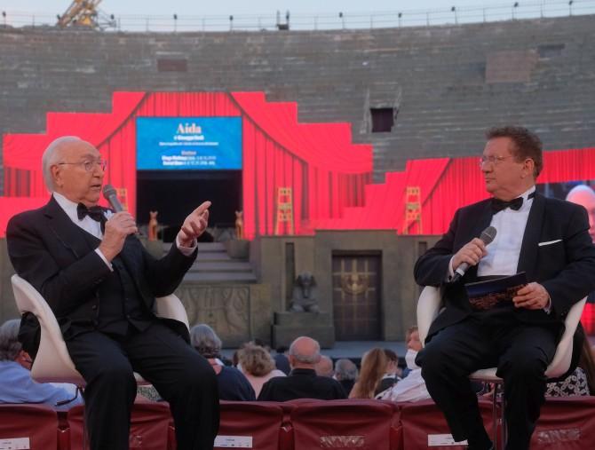 Pippo Baudo e Antonio Di Bella raccontano La grande Opera all'Arena di Verona
