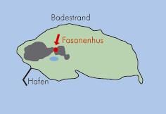 Lageplan Fasanenhus Baltrum