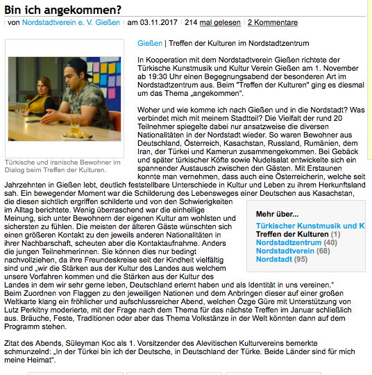 Gießener Zeitung 03.11.2017