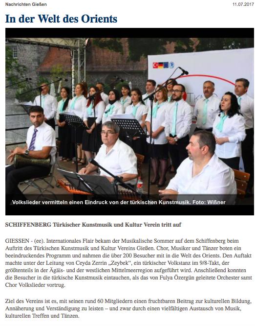 Gießener Zeitung 11.07.107
