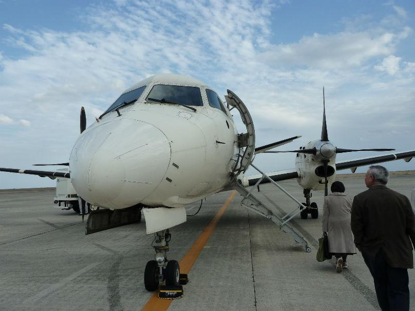 何メートルかあるけば飛行機。徳之島へ出発