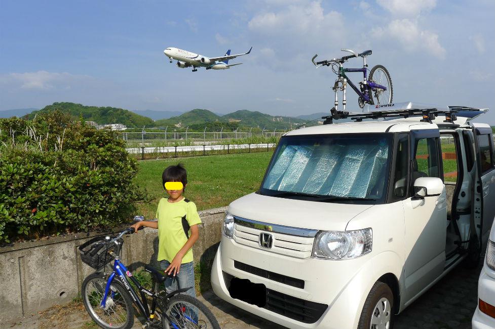 福岡空港横の出発点