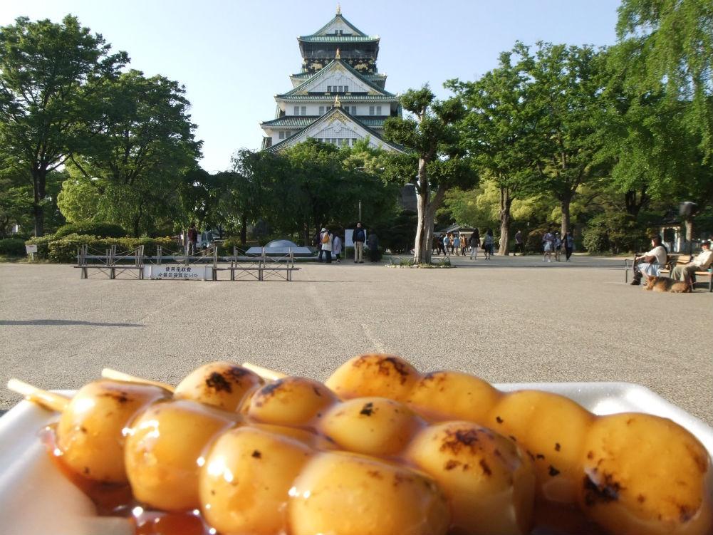 大阪城と3時のおやつの定番?、コジイチアングルも考えてます。