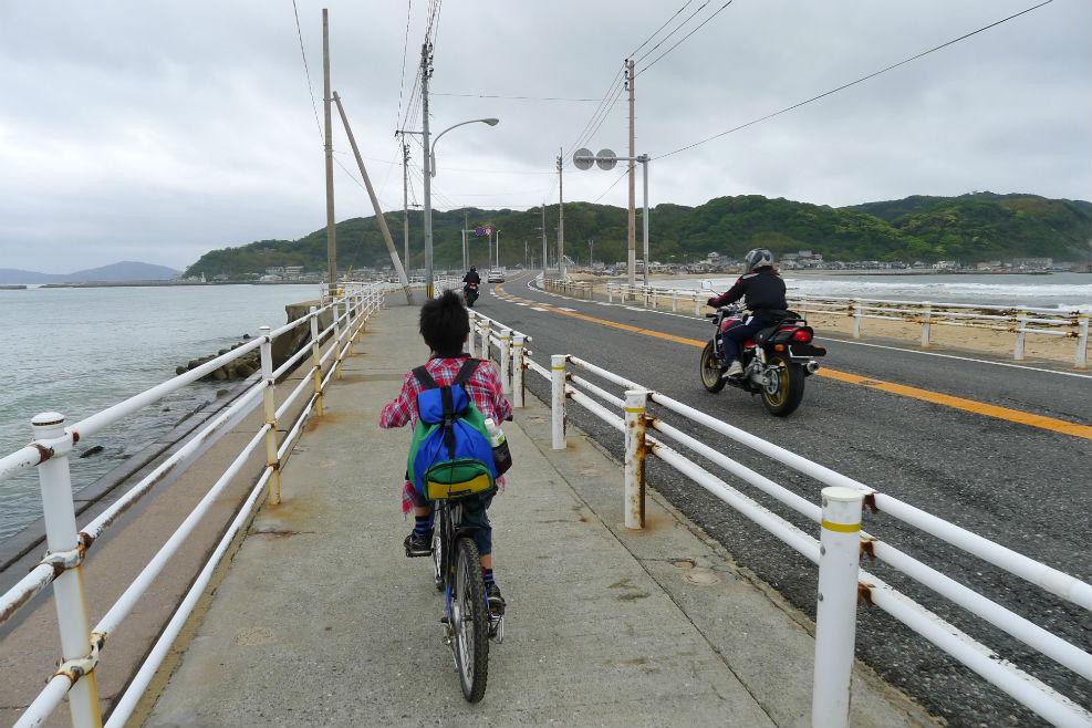 志賀島上陸