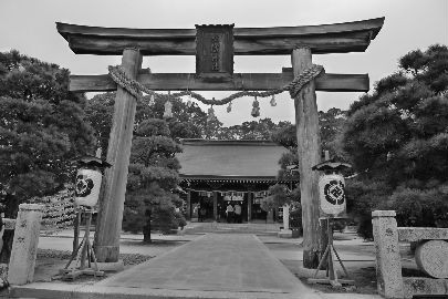二日目の朝、坊主が勉強中の松陰神社へ