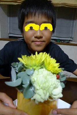 お花まで頂きました。