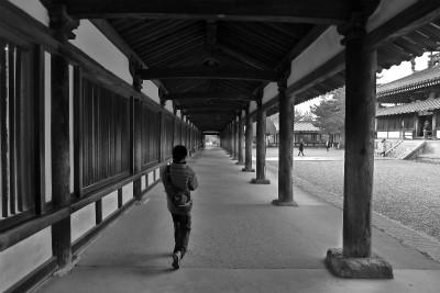 法隆寺 歩く