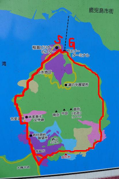 桜島1周コース約37km