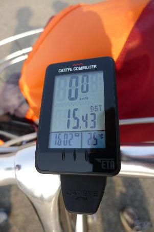 本日は約15kmでしたが、適度なアップダウンでいい運動に。