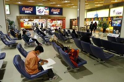 熊本空港 出発前に勉強中 多分ですが
