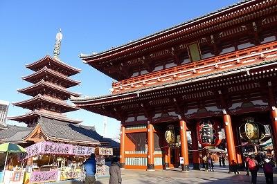 もちろん浅草寺は外せません