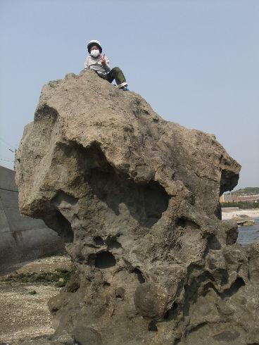 無事登頂・・・下りはいつもの事で怖くて降りられません