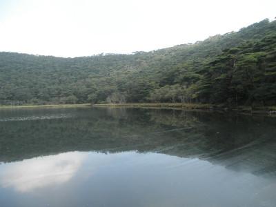 コジコはこの湖畔を散歩したようで・・・